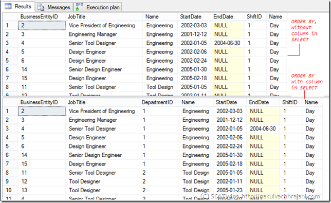 #0340 – SQL Server – Myths - ORDER BY can only work on columns fetched in the SELECT clause (1/3)