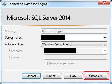 "SQLTwins, Post #0366 - SQL Server Management Studio (SSMS) - The ""Connect to Database Engine"" window"
