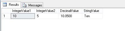 Declaring multiple variables and assigning values to them in a single statement
